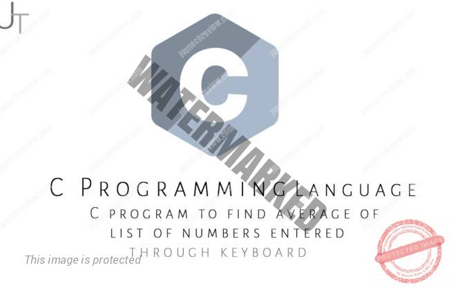 C program to find the average of a list of numbers entered through the keyboard