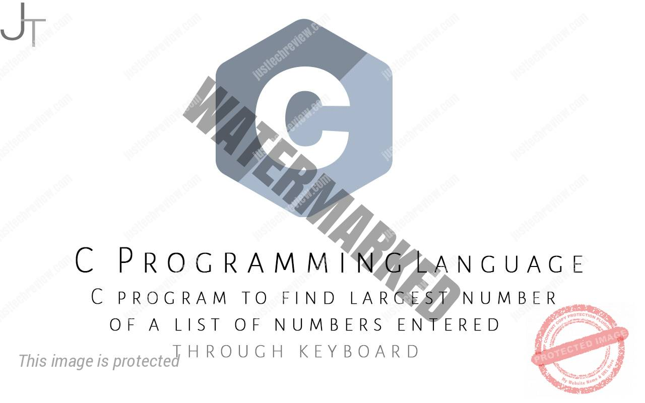 C program to find largest number of a list of numbers entered through keyboard