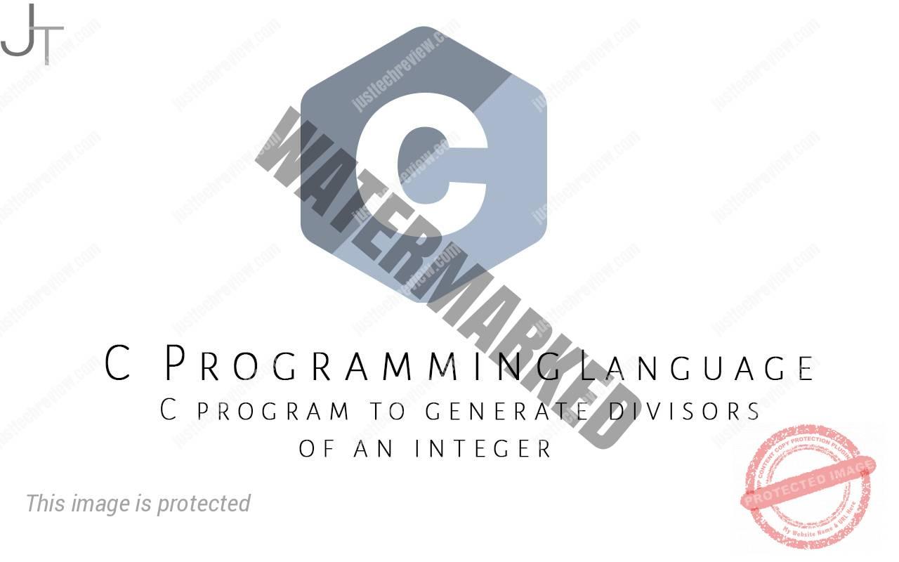 C program to generate divisors of an integer