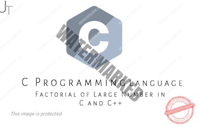 Factorial of Large Number in C and C++