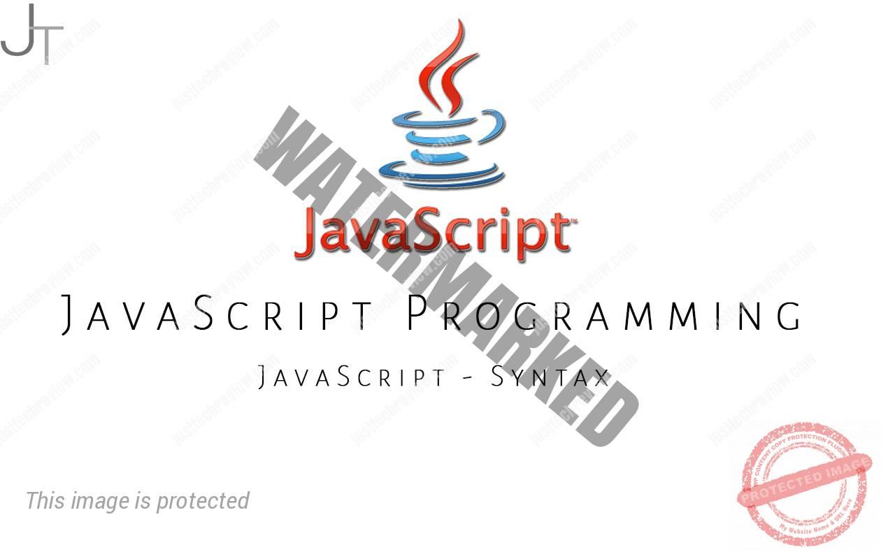 JavaScript - Syntax