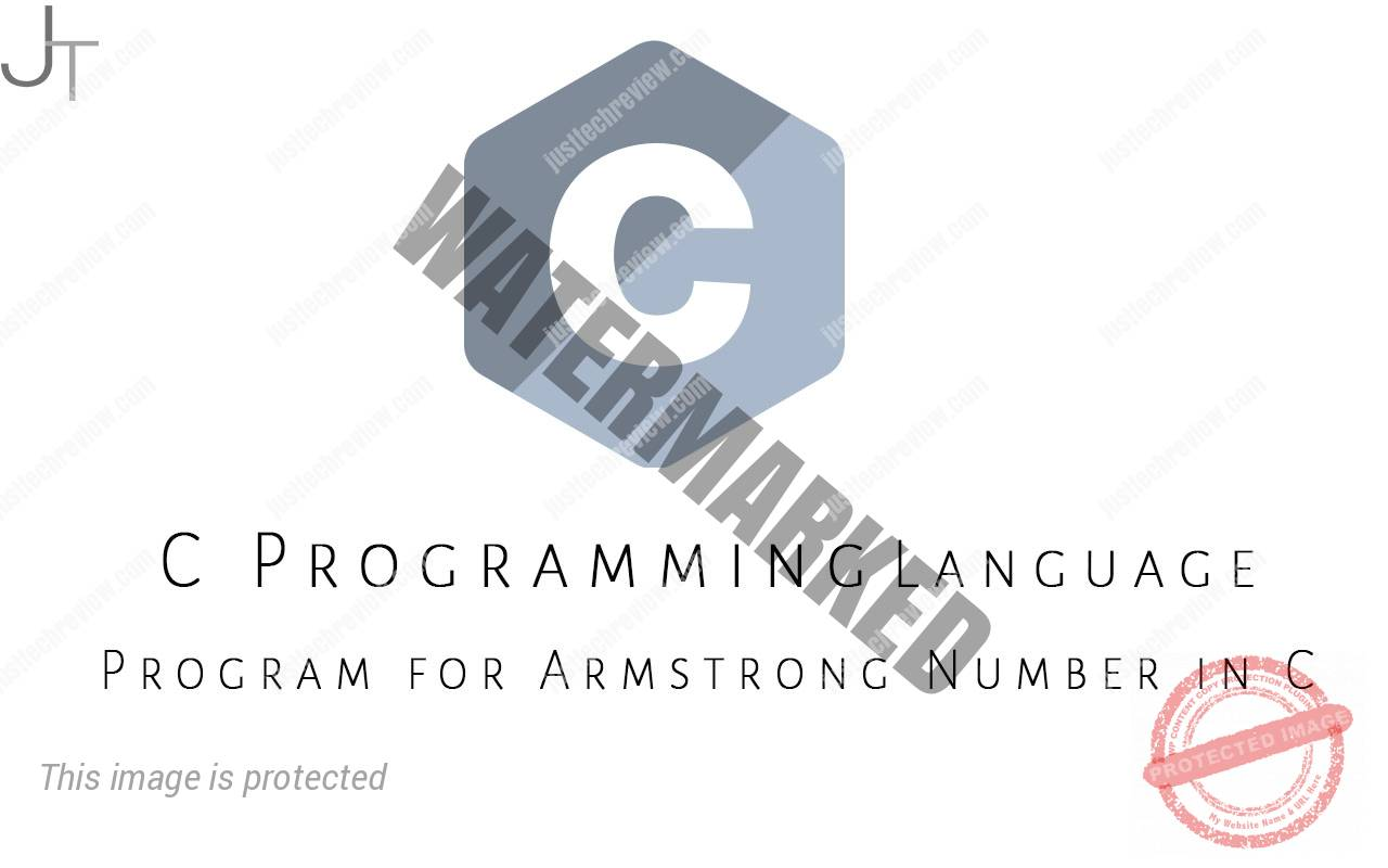 Program for Armstrong Number in C
