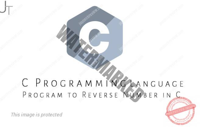 Program to Reverse Number in C