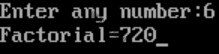 C program to find factorial of any number using recursion