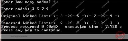 C Program to Reverse a Linked List