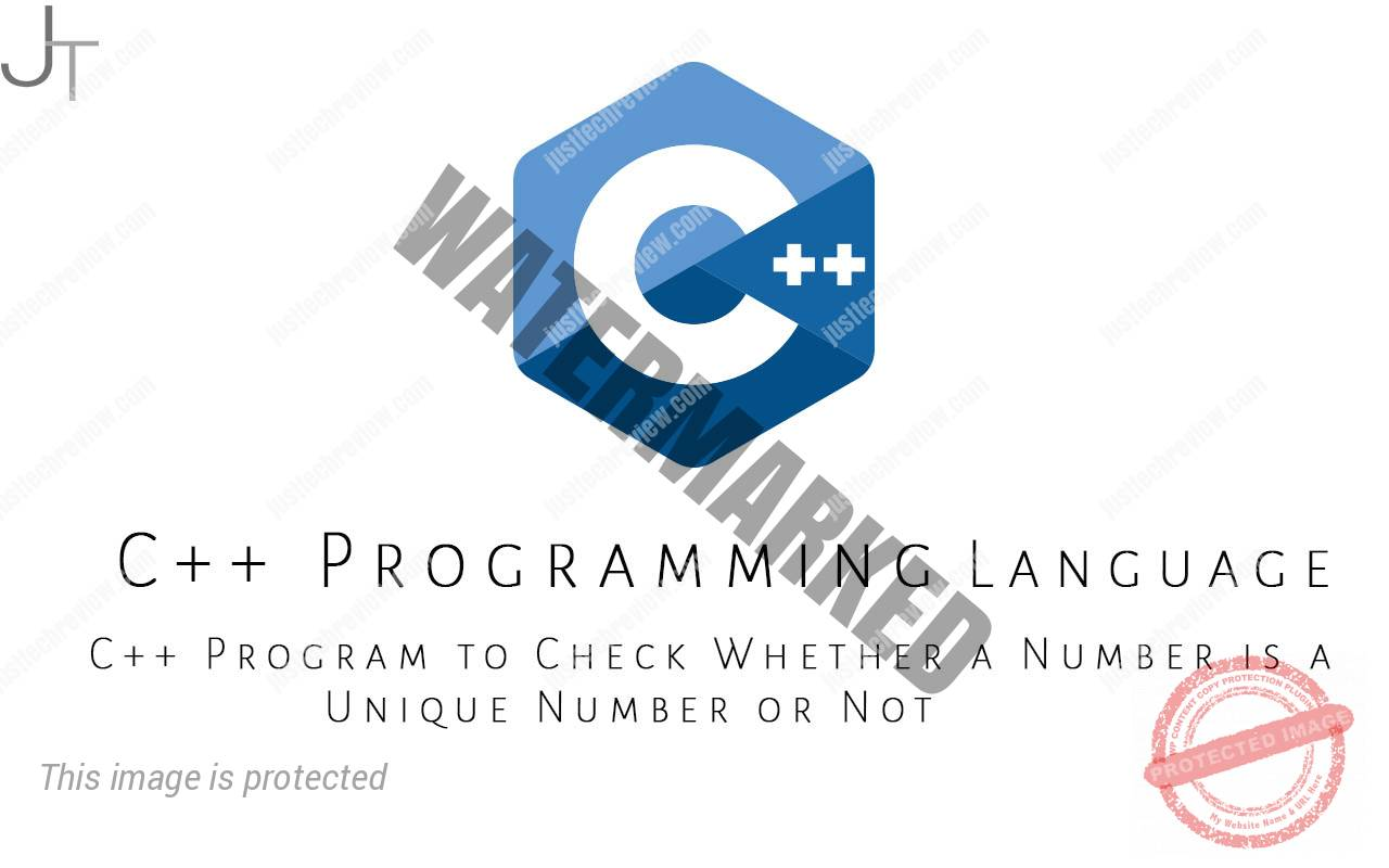 C++ Program to Check Whether a Number is a Unique Number or Not