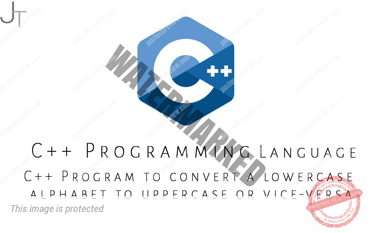 C++ Program to convert a lowercase alphabet to uppercase or vice-versa