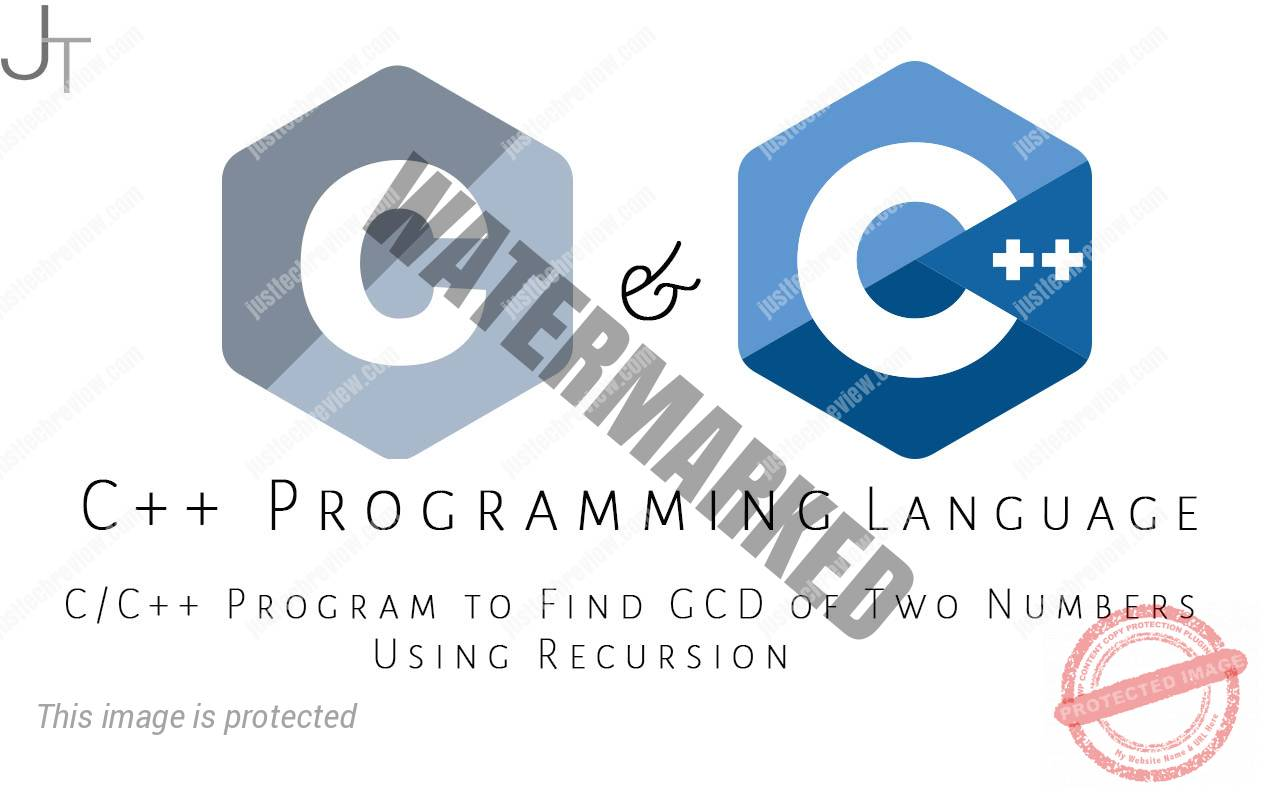 C/C++ Program to Find GCD of Two Numbers Using Recursion