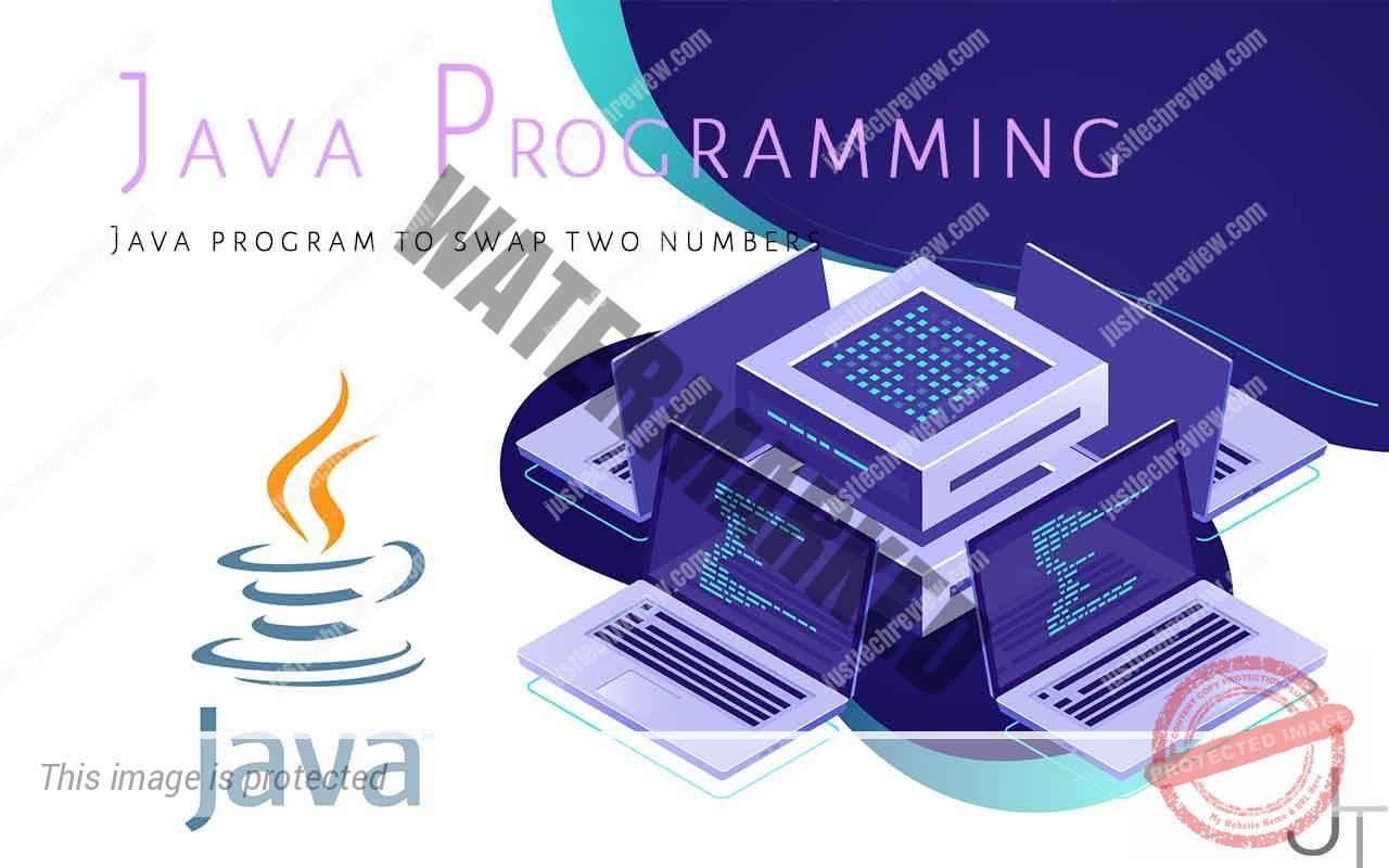 Java program to swap two numbers
