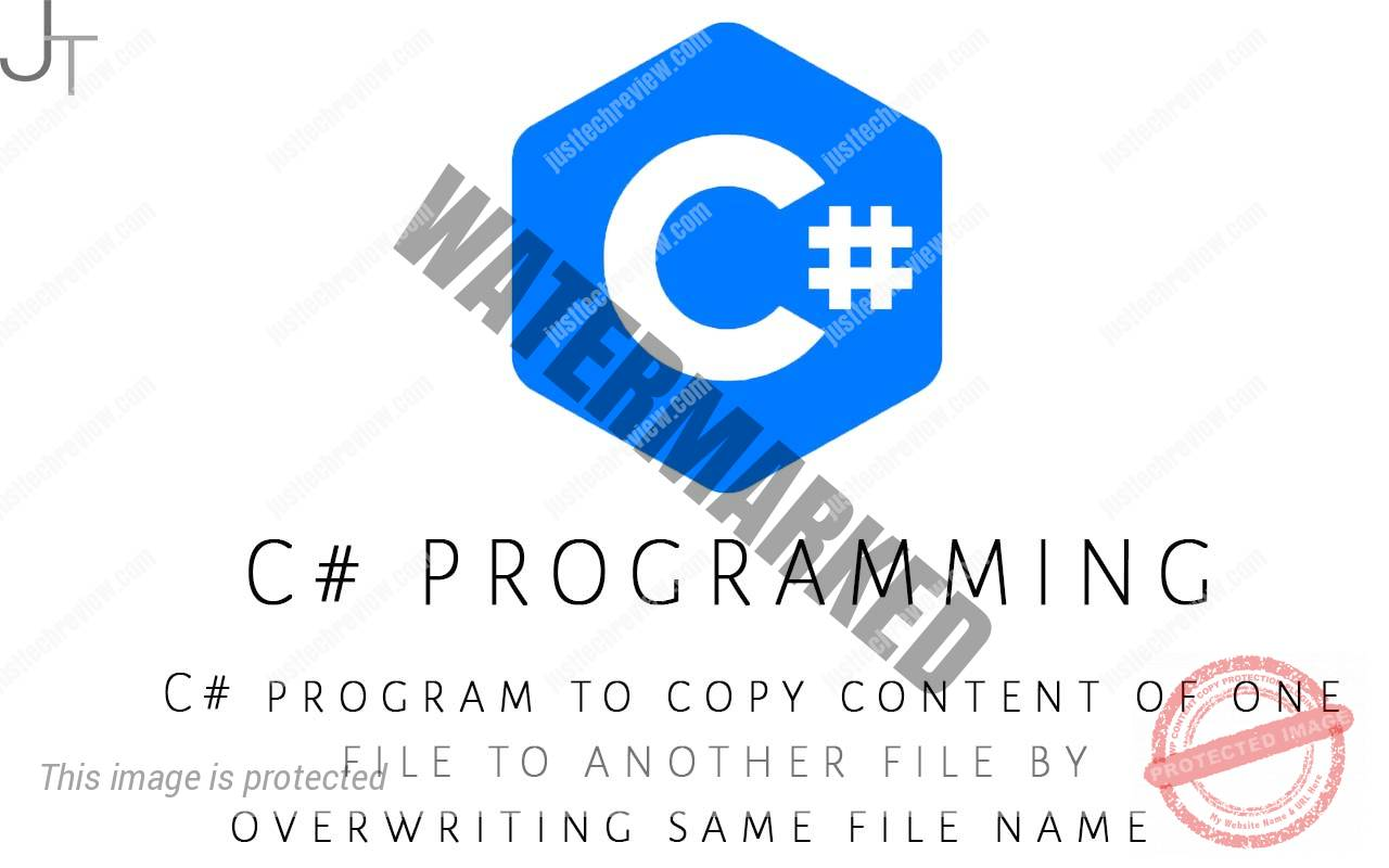 C# program to copy content of one file to another file by overwriting same file name