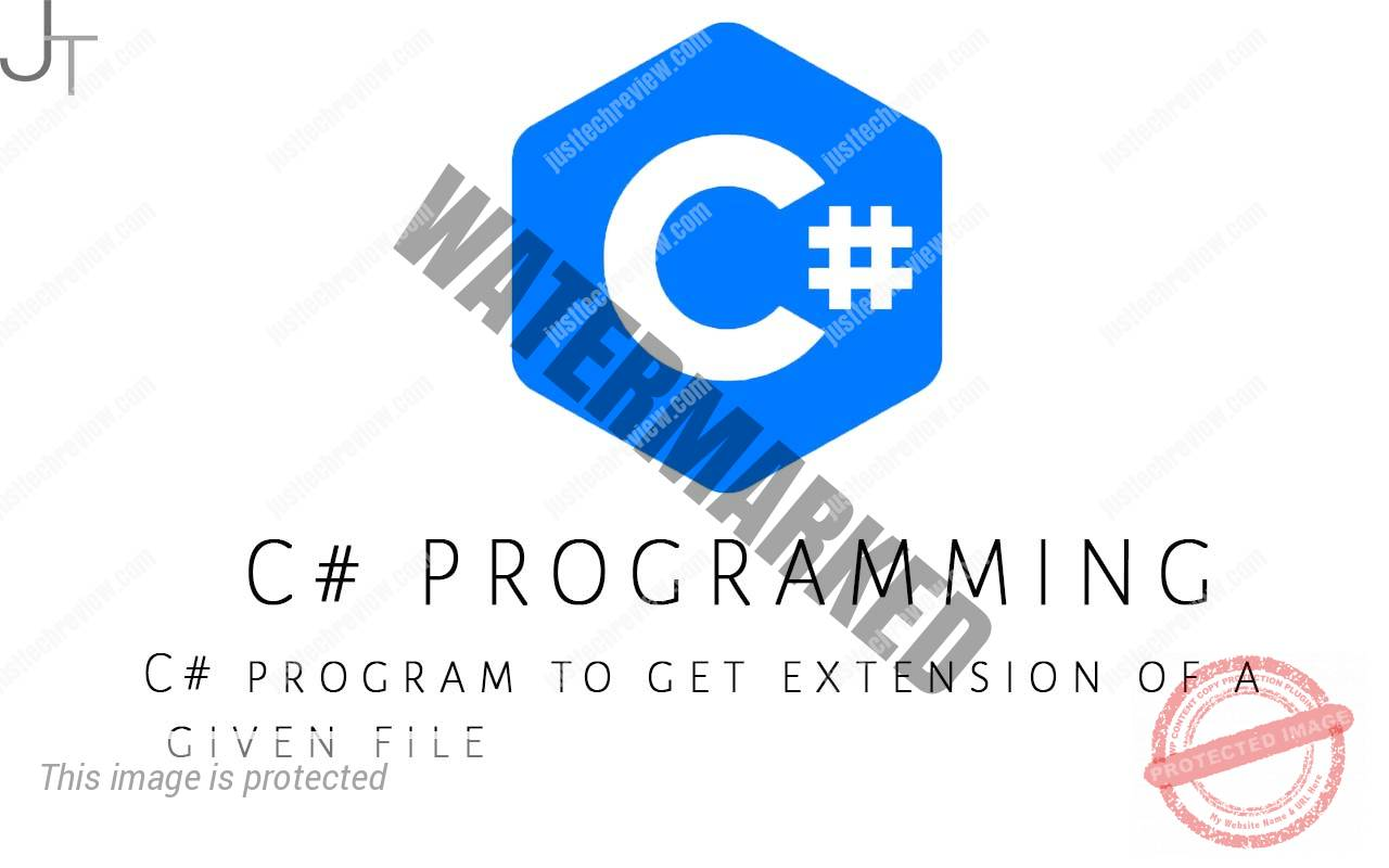 C# program to get extension of a given file