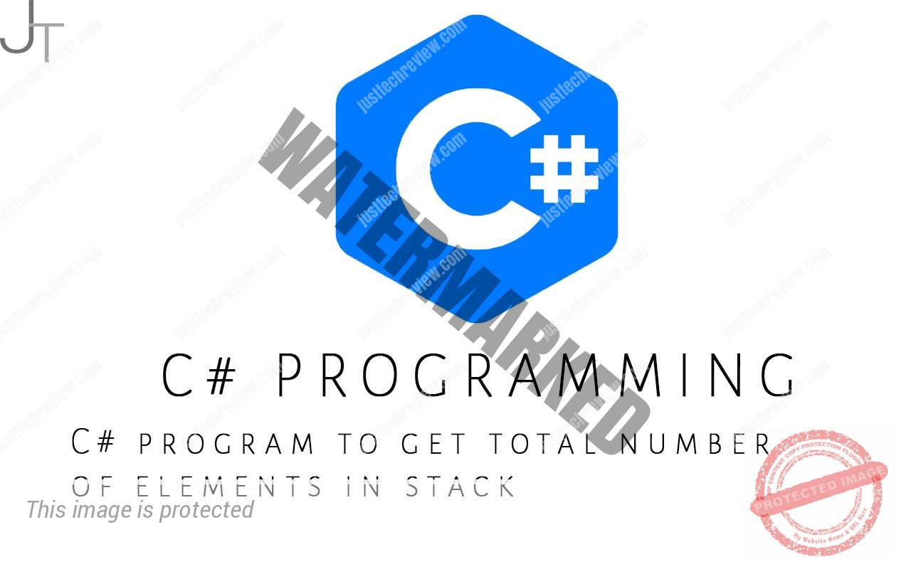 C# program to get total number of elements in stack