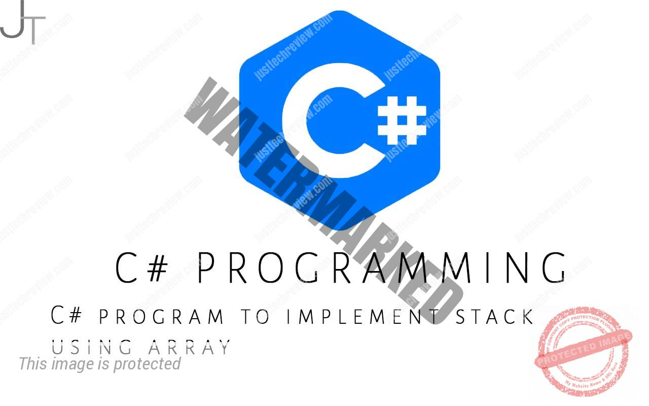 C# program to implement stack using array