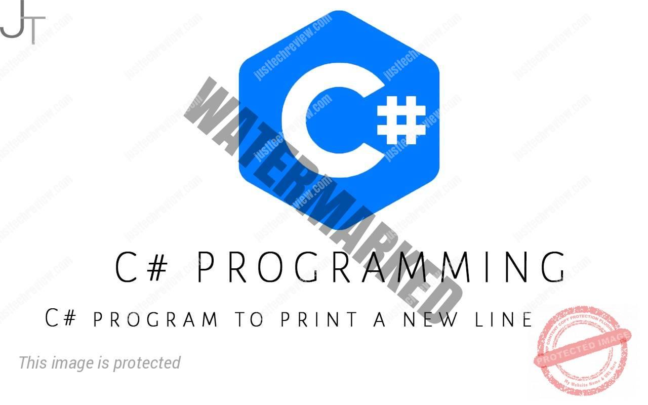 C# program to print a new line