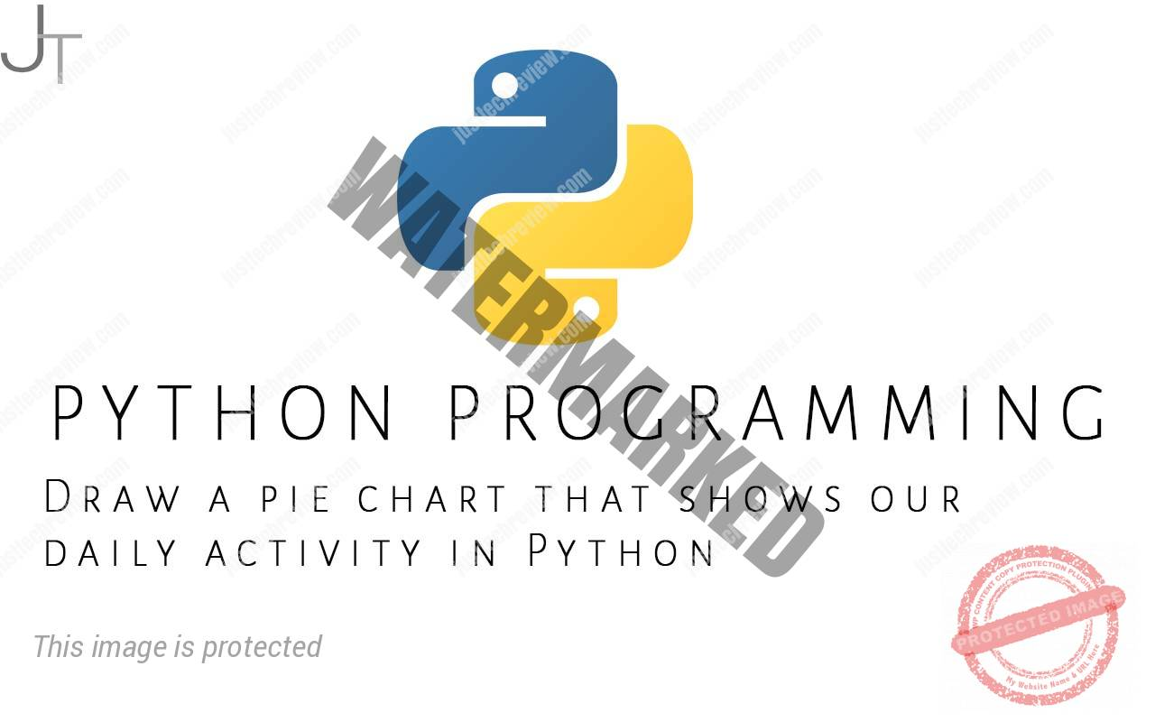 Draw a pie chart that shows our daily activity in Python