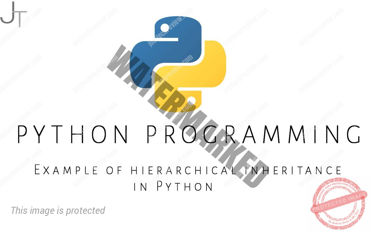 Example of hierarchical inheritance in Python