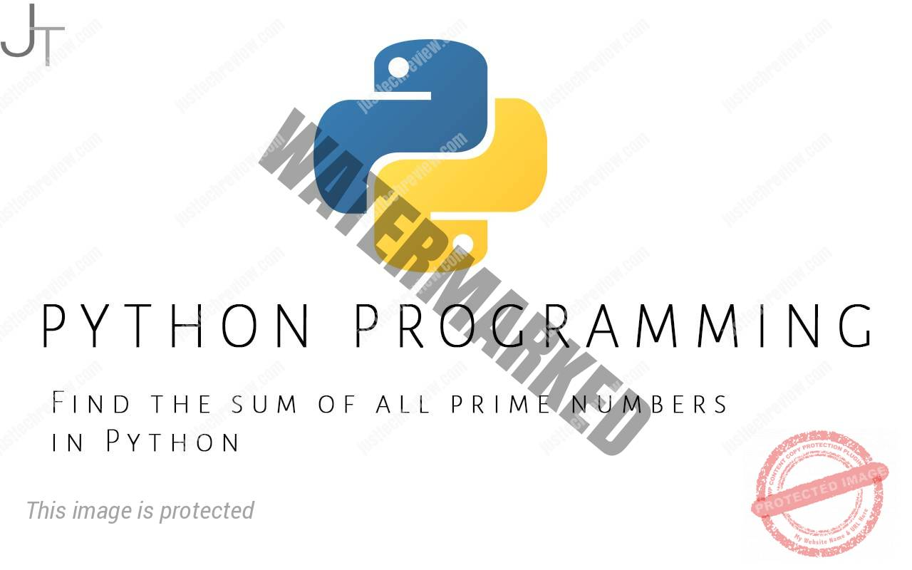 Find the sum of all prime numbers in Python