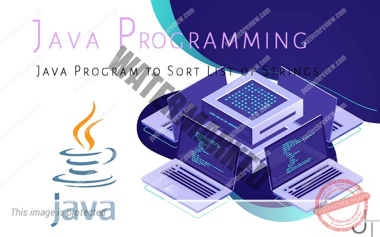 Java Program to Sort List of Strings