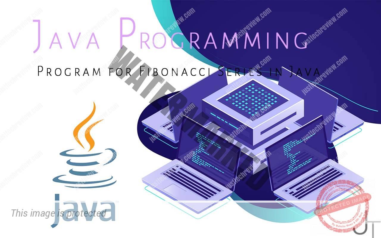 Program for Fibonacci Series in Java