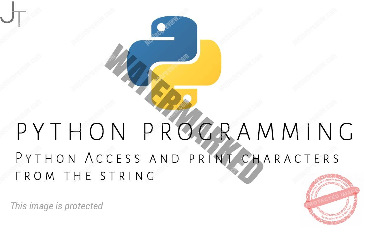 Python Access and print characters from the string