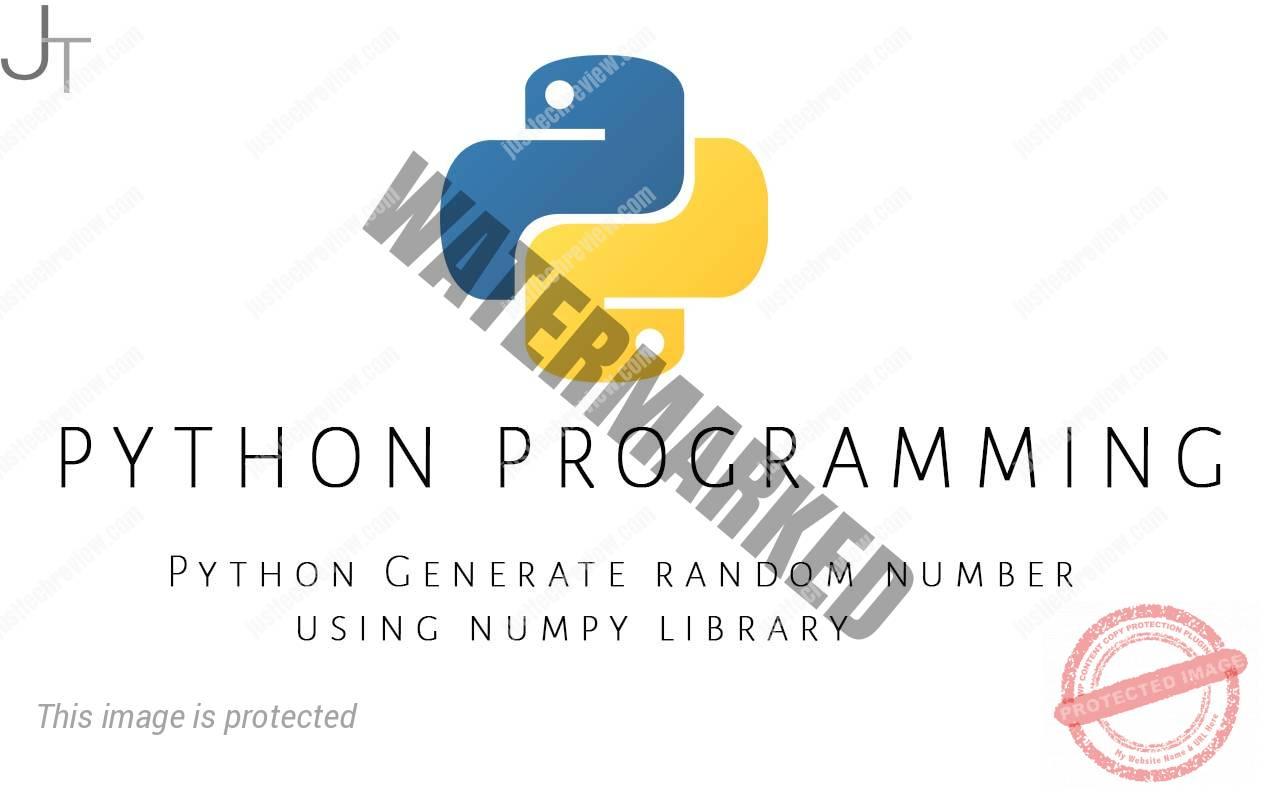 Python Generate random number using numpy library