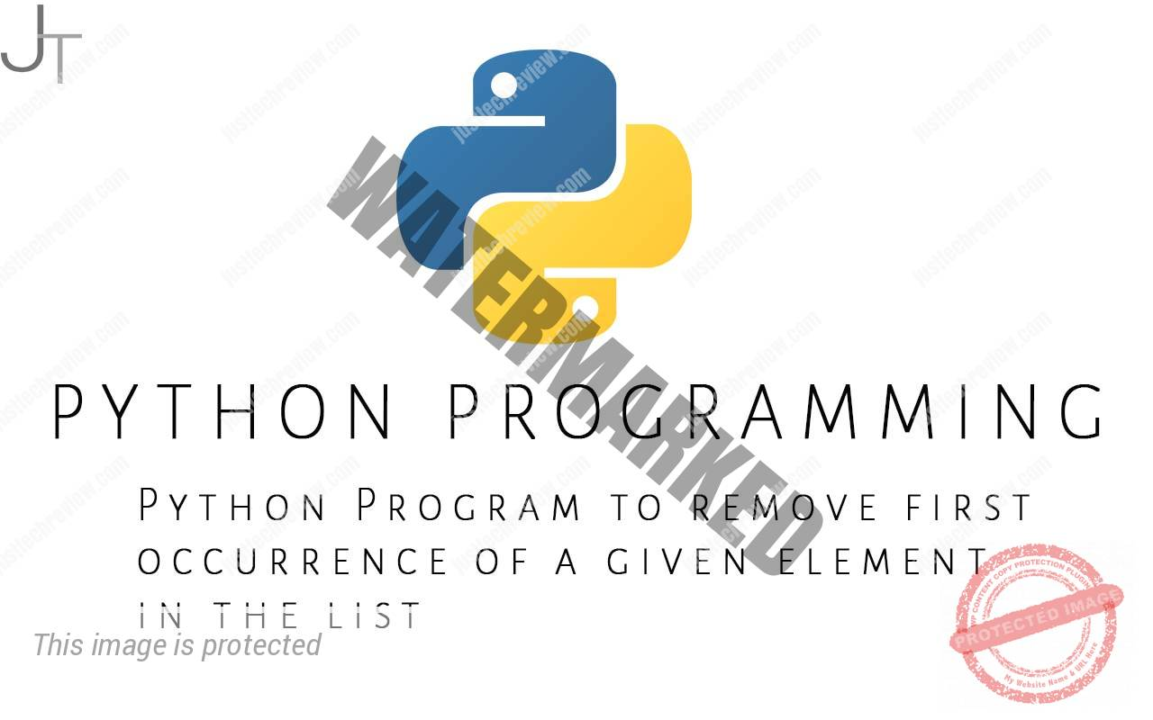 Python Program to remove first occurrence of a given element in the list