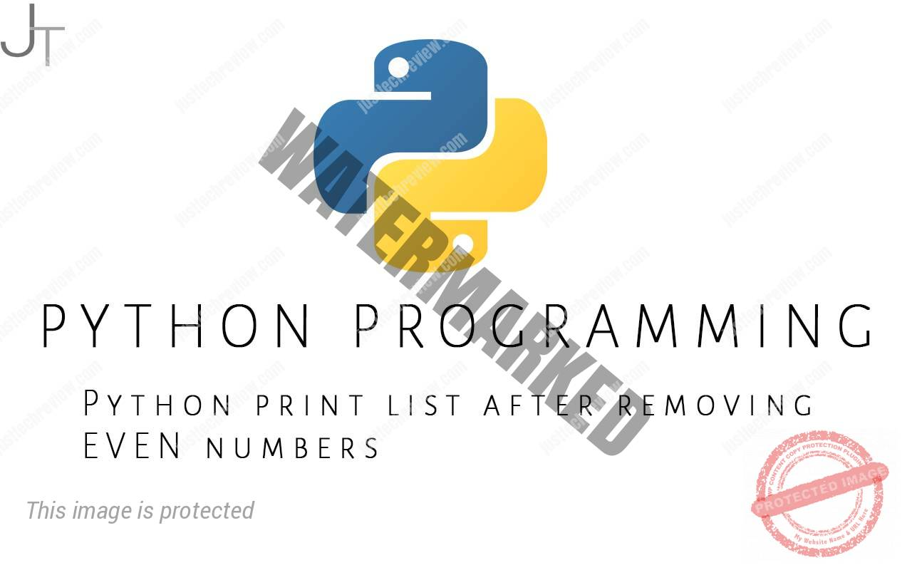 Python print list after removing EVEN numbers
