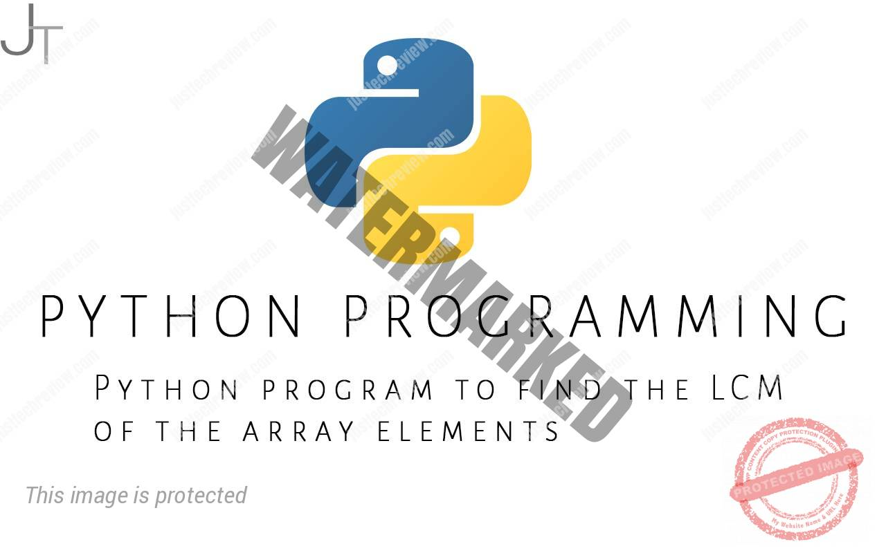 Python program to find the LCM of the array elements