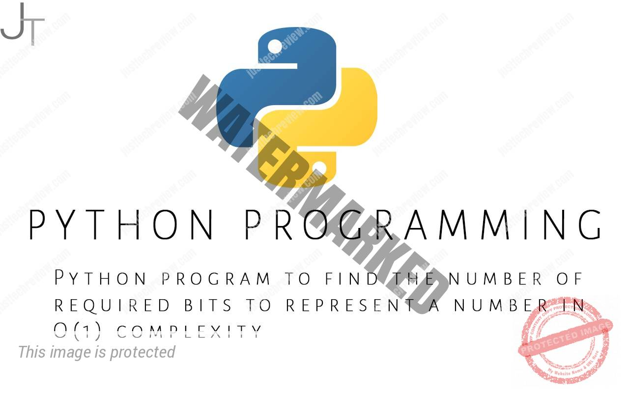 Python program to find the number of required bits to represent a number in O(1) complexity