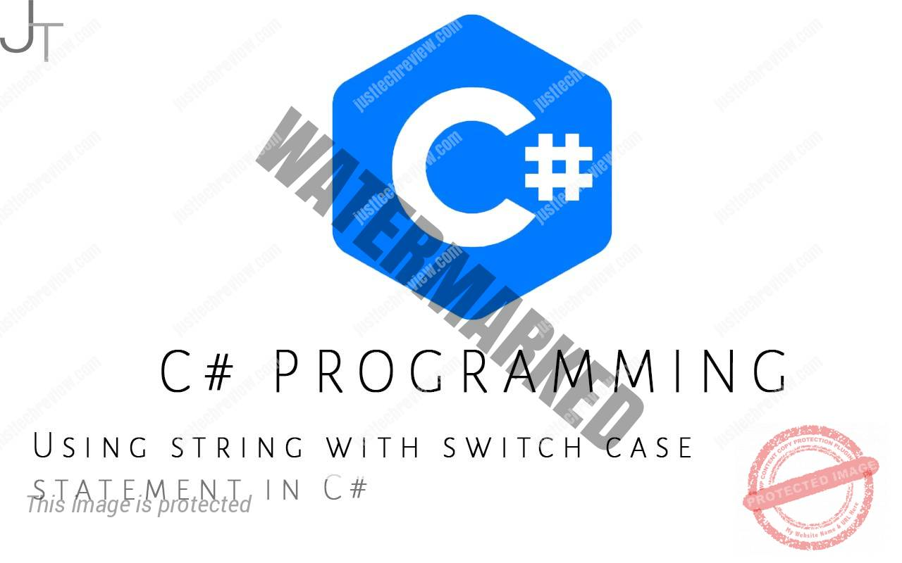 Using string with switch case statement in C#