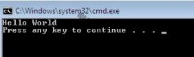 Print 'Hello World' program in C#.NET