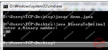 Program to Convert Binary to Decimal in Java