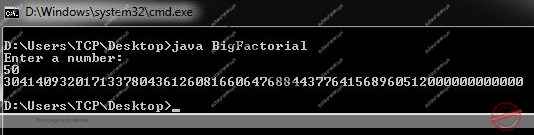 Factorial of Large Number in Java