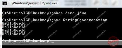 Program for String Concatenation in Java