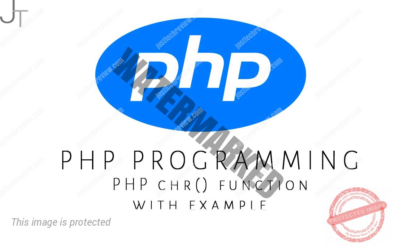 PHP chr() function with example