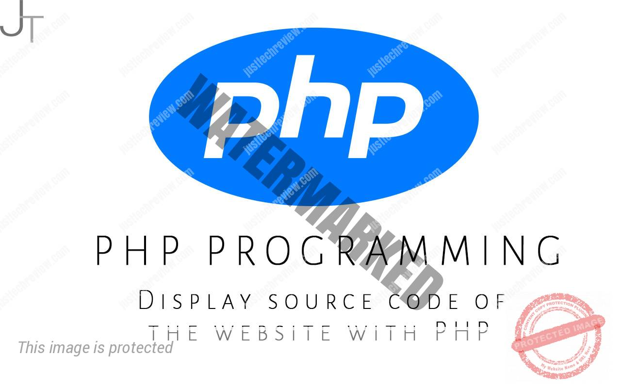 Display source code of the website with PHP