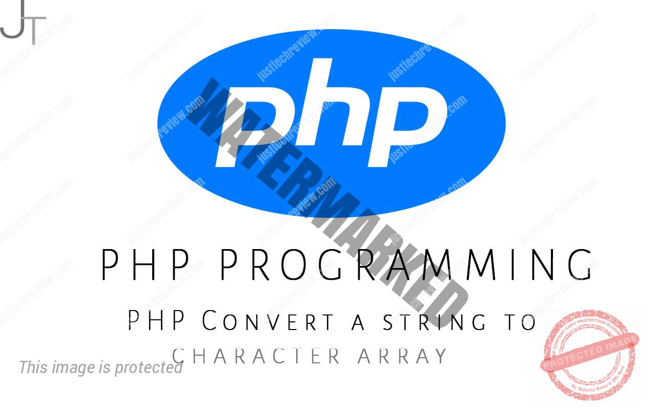 PHP Convert a string to character array