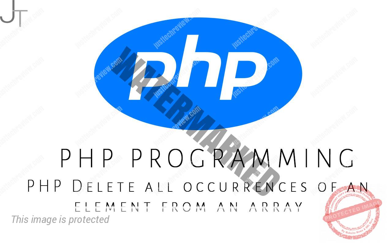PHP Delete all occurrences of an element from an array