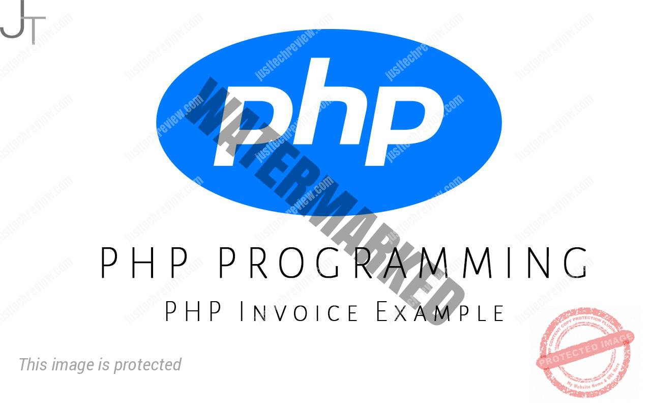 PHP Invoice Example