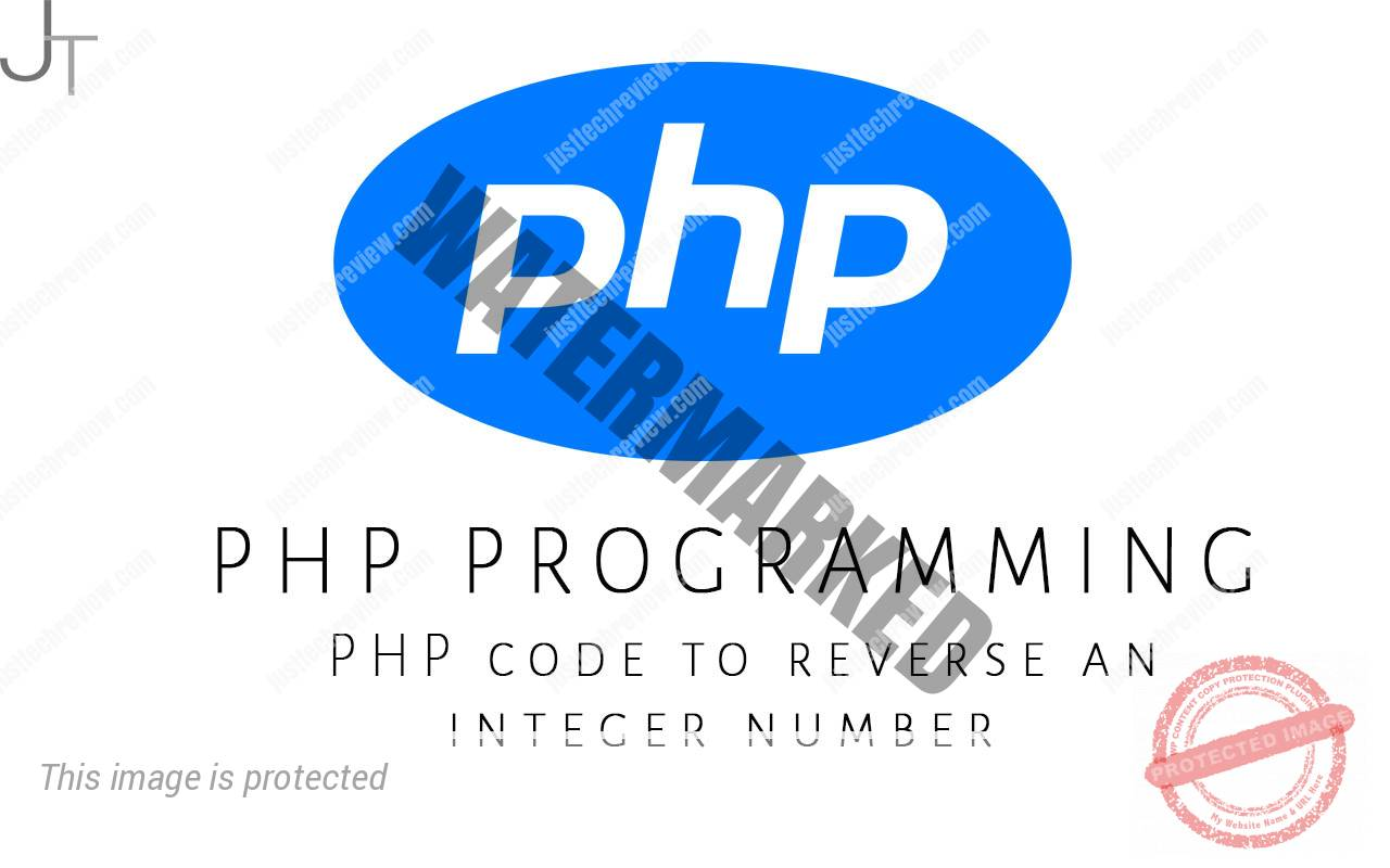 PHP code to reverse an integer number