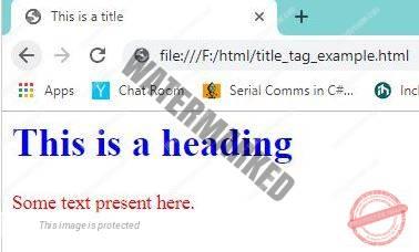 HTML Head Tag