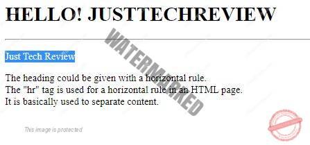 html tag heading
