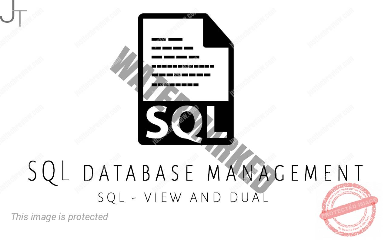 SQL - VIEW AND DUAL