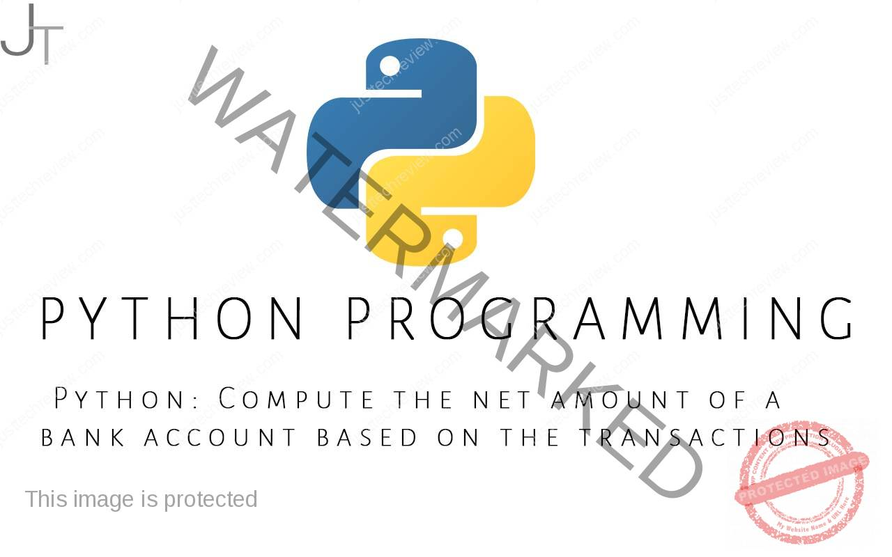 Python Compute the net amount of a bank account based on the transactions