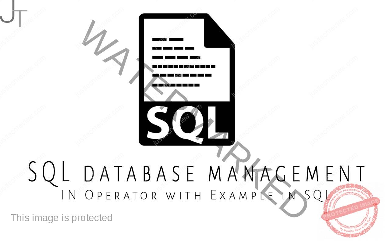 IN Operator with Example in SQL